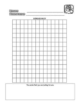 blank word search wordsearch blank by literacy workshop teachers pay teachers