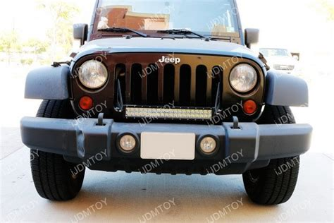 jeep light bar grill 20 quot 120w high power led light bar w mounting bracket for