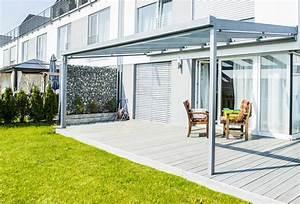 Terrassenuberdachung herolf uberdachungen for Terrassenüberdachung seitlicher windschutz
