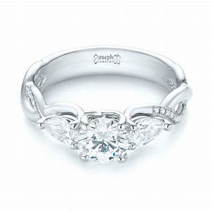 Custom three stone diamond engagement ring 103503 for Custome wedding rings