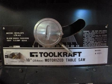 toolkraft 10 inch table saw toolkraft 10 quot table saw model 4101 38 quot w x 30 quot d x 34 quot h