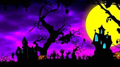 cartoon halloween background animation royalty