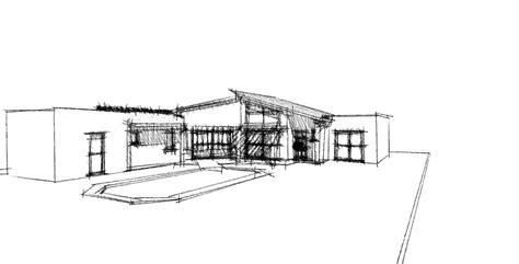 dessin de maison moderne