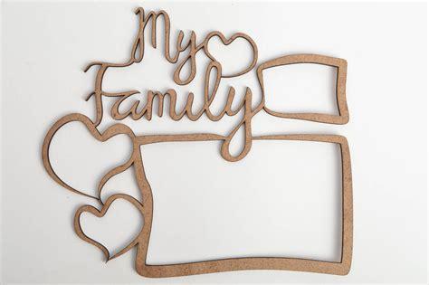 du brut au net cadre madeheart gt cadre photo en bois brut fait original 224 d 233 corer et peindre my family