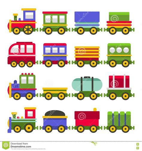Grupo Do Trem De Estrada De Ferro De ColorToy Do Estilo