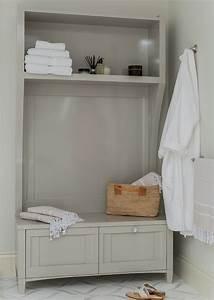 gray storage bench contemporary bathroom venegas and With robe bench