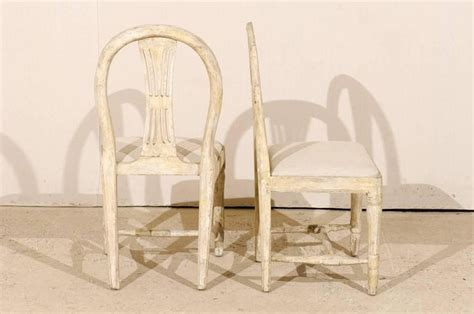 pair of swedish provincial gustavian wheat back side