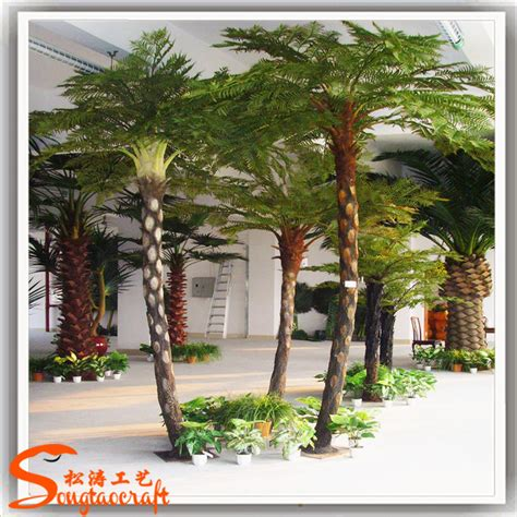 3meter artificial plastic palm tree solar lighted palm