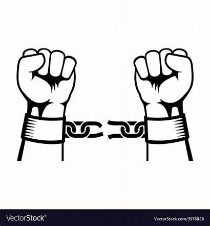 Breaking Hands Chain Vector Steel Royalty