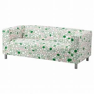 KLIPPAN Two-seat sofa Marrehill pink/green - IKEA