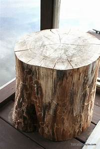 1000 images about tree stump table on pinterest stump With log stump coffee table
