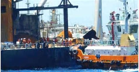 Sri Lanka Navy plugs fuel leak on the fire-hit oil tanker