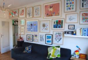 Framed Kids Art Display Wall