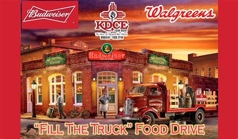 "Fill The Bud Truck"" Food Drive"