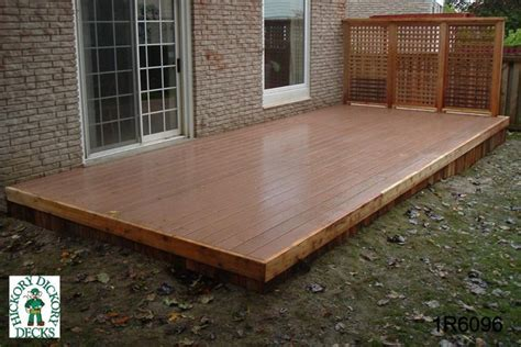 Floating Deck Without Footings by Low Diy Deck Plans