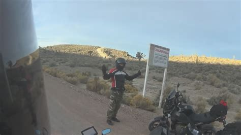 Area 51 Line Crossed By Bikers  Findingufo Youtube