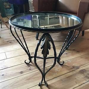 Table D Appoint Miroir : table d 39 appoint fer forg et plateau miroir 50 mobilier ~ Teatrodelosmanantiales.com Idées de Décoration