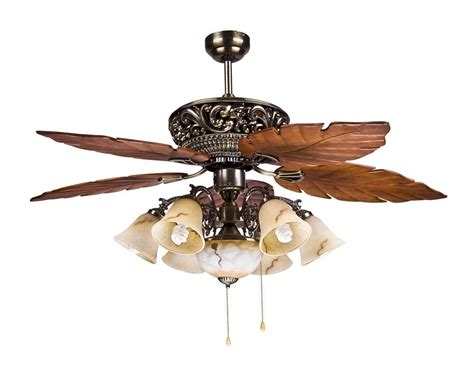 Tropical Ceiling Fans With Lights by Large Tropical Ceiling Fan Light With 5 Maple Leaves Blade