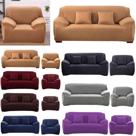 Stretch Settee Covers by 2 Seater Sofa Slip Cover Covers Easy Fit Stretch Elastic