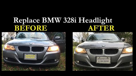 fast replace bmw  headlight bulb  removing