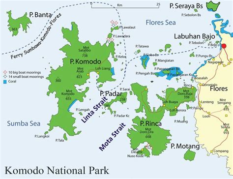 map  komodo national park komodo adventure