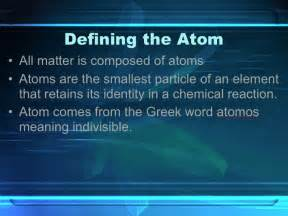 Atom Definition Science