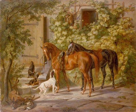 horses   country house  stock photo public