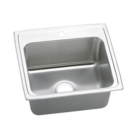 elkay sinks kitchen elkay lustertone drop in stainless steel 22 in 1 3558