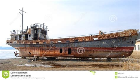 Big Boat In Rust by The Abandoned Ship Stock Image Image Of Heavy