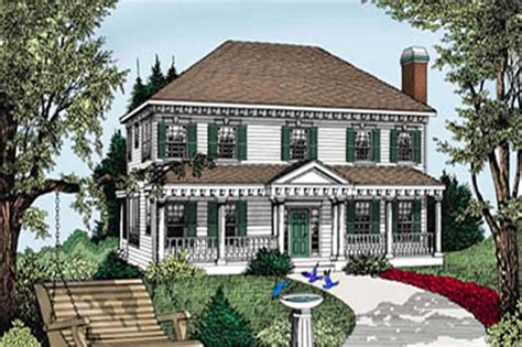 colonial southern country house plans home design ddi