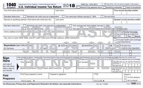 here s how the new postcard sized 1040 differs from your current tax return taxgirl