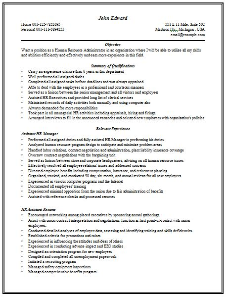 resume for hr manager 10000 cv and resume sles with free content rich resume sle for hr manager