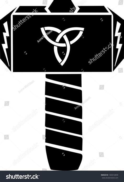 thors hammer vector design triquetra flash 140312839 shutterstock