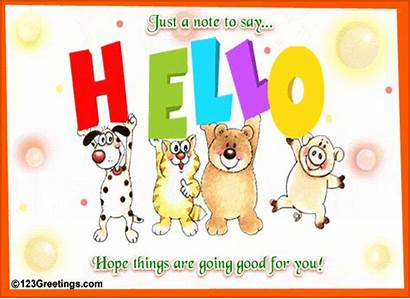 Hello Friend Cards Greetings Quotes Dear 123