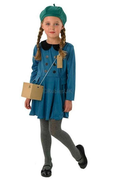 Girls Evacuee Fancy Dress Costume | Girlu0026#39;s World Book Day Fancy Dress Costumes | Mega Fancy Dress