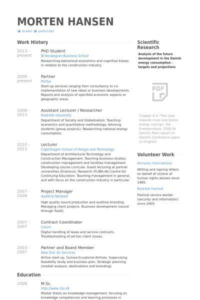 phd student resume exle graphic design