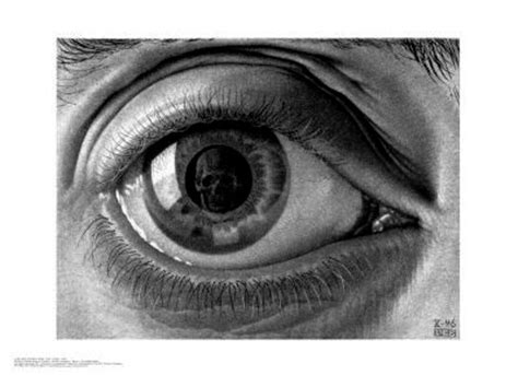 Eye A H C m c escher 1946 eye