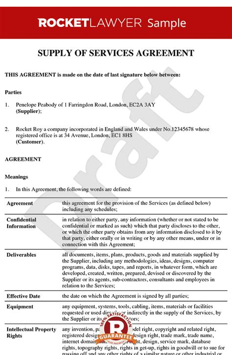 Service Contract Template Service Contract Service Agreement Service Contract