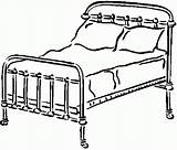 Coloring Bedroom Bed Furniture Coloringhome sketch template