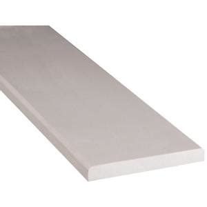 home depot flooring threshold ms international white double bevelled 6 in x 36 in engineered marble threshold floor and wall