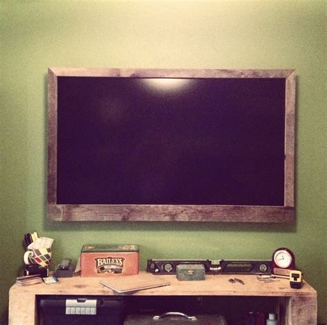 reclaimed wood reclaimed wood frame for flat screen tv for the home
