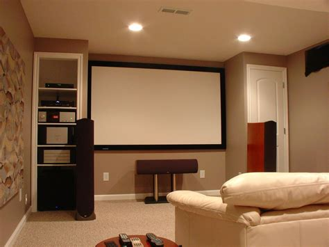 modern house layout small home theater ideas brown wooden floor recessed