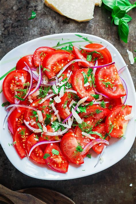 fresh herbs  tomato salad recipe eatwell