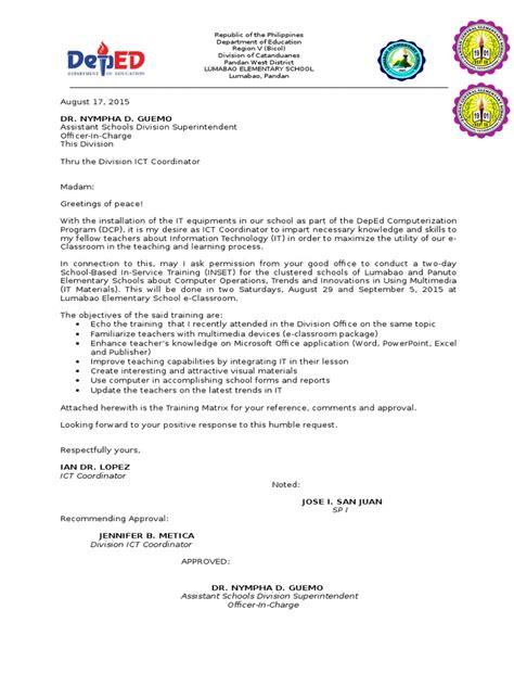letter request   training docsharetips