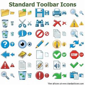 Standard Toolbar Icons | Free Images at Clker.com - vector ...