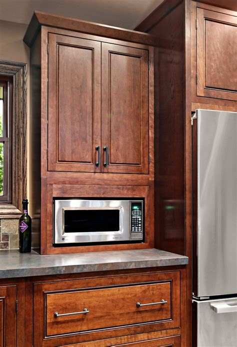 Kitchen Drawer Ideas - built in microwave cabinet kitchen traditional with backsplash beadboard cabinetry cabinets