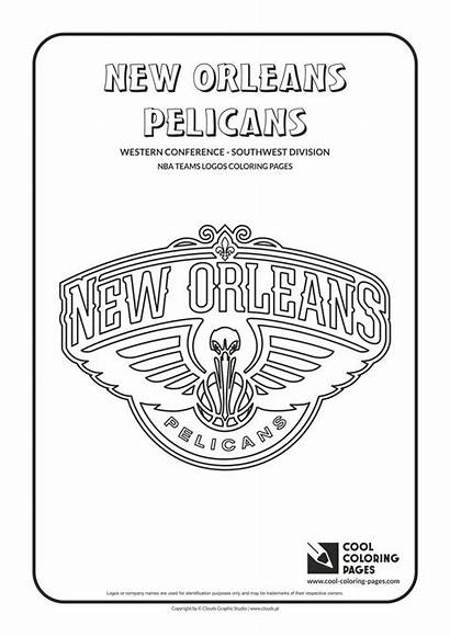 Coloring Pages Nba Cool Logos Basketball Pelicans