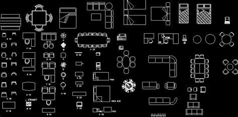 furniture equipments top views dwg block  autocad
