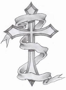 Crosses with banners tattoos designs | Tattoo Collection