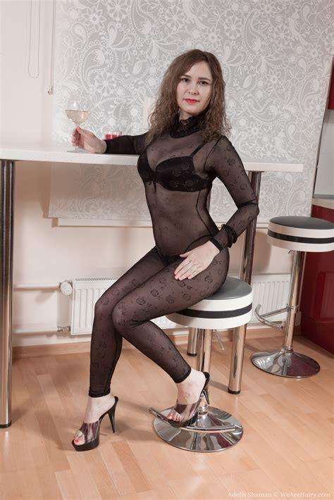 Adelis Shaman strips naked enjoying some beverage